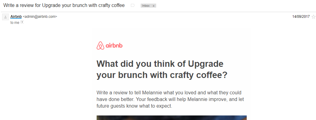 Airbnb reviews customer feedback