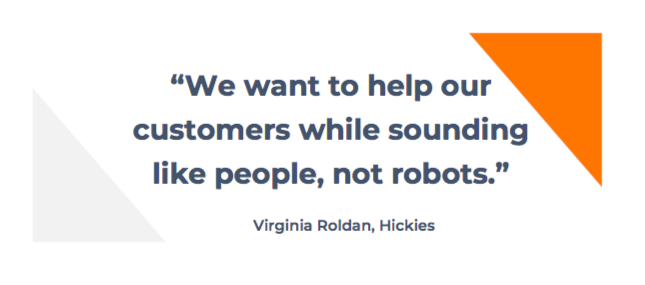 Hickies e-commerce customer service