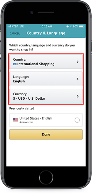 international shopping amazon
