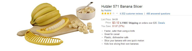 funny amazon reviews banana slicer