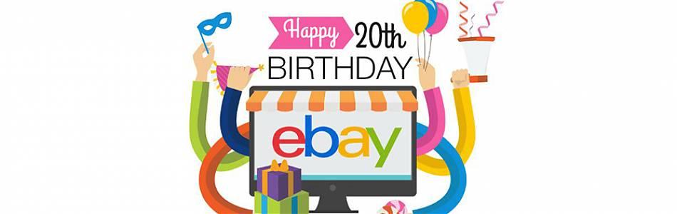 ''eBay 20th birthday image''