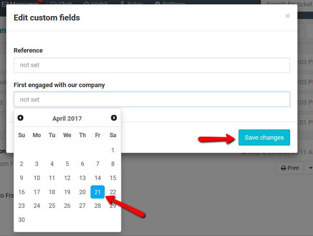 Date custom field