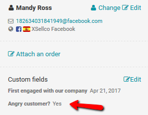 Angry customer custom field complete