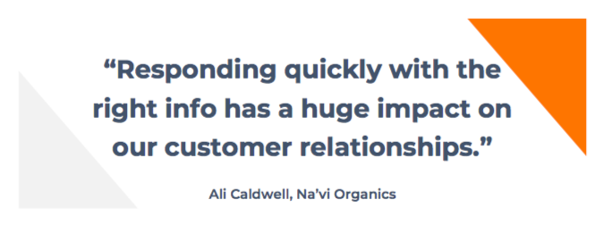 Na'vi Organics e-commerce customer service