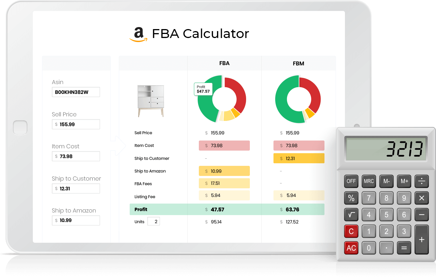 xsellco amazon FBA Calculator